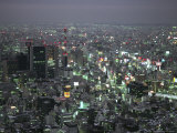 Tokyo Cityscape at Twilight Photographic Print by Paul Chesley