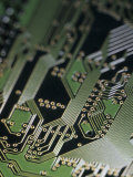 A Close View of a Silicon Circuit Board from a Computer Photographic Print by Taylor S. Kennedy