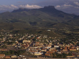 Town of Trinidad, Colorado with Fisher Peak in Background Photographic Print by Phil Schermeister