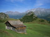 A Rustic Mountain Hut High in the Swiss Alps Near St. Moritz Photographic Print by Taylor S. Kennedy