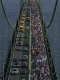 Annual Labor Day Bridge Walk Across the Mackinac Bridge, St. Ignace, Michigan Photographic Print by Phil Schermeister