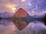 Sunrise on Swiftcurrent Lake in Many Glacier Valley, Glacier National Park, Montana, USA Photographic Print by Chuck Haney