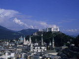 A View of the City of Salzburg from an Overlook on the Mountain, Salzburg, Austria Photographic Print by Taylor S. Kennedy