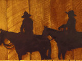 Iron Sculpture of Cowboys at Boulder River Ranch, Montana, USA Photographic Print by John & Lisa Merrill