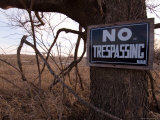 A 'No Trespassing' Sign Warns Visitors to Steven's Creek Farm Photographic Print by Joel Sartore