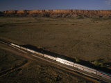The Southwest Chief Train Heads West from Albuquerque, New Mexico Photographic Print by Phil Schermeister