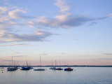 Lake with Boats Riding at Anchor on a Calm Night, Fraueninsel, Chiemsee, Bavaria, Germany Photographic Print by Taylor S. Kennedy