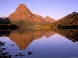 Sinopah Mountain Reflected in Two Medicine Lake, Glacier National Park, Montana, USA Photographic Print