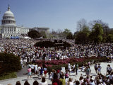 Crowds Celebrating Earth Day 1990 on the West Side of the Capitol Photographic Print by Stephen St. John