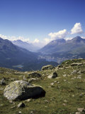 A View of the Lakes Down the Engadine Valley on a Summer Day, St Moritz,S Witzerland Photographic Print by Taylor S. Kennedy