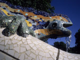 Antoni Gaudi was First to Use Recycled Construction Waste in Works, Parc Guell, Barcelona, Spain Photographic Print by Taylor S. Kennedy