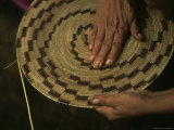 Native American Basket Weaver in Yosemite National Park, California Photographic Print by Phil Schermeister