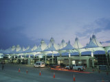 The Denver Airport Arrival Area at Dusk Photographic Print by Taylor S. Kennedy