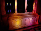 Woodrow Wilson&#39;s Stone Casket in a Quiet Alcove of the Cathdral Photographic Print by Stephen St. John