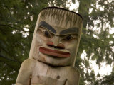 A Close View of a Totem Pole Photographic Print by Taylor S. Kennedy