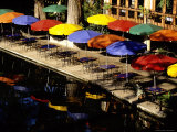 Early Morning Bright Riverwalk Eateries Await Customers Photographic Print by Stephen St. John