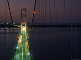 Mackinac Bridge, One of the World&#39;s Longest Suspension Bridges, St. Ignace, Michigan Photographic Print by Phil Schermeister