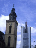 New and Old Stand Next to Each Other in the Business Capitol of Europe, Frankfurt, Germany Photographic Print by Taylor S. Kennedy