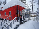 Caboose Lodging at Izaak Walton Lodge, Essex, Montana, USA Photographic Print by Chuck Haney