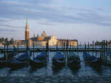 A View of the San Giorgio Maggiore Church and Moored Gondolas Photographic Print by Taylor S. Kennedy
