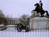 Fresh Snow Coats Lafayette Park and the White House Photographic Print by Stephen St. John
