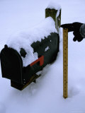 A Yardstick and Mailbox Show the Depth of a Big Snowstorm Photographic Print by Stephen St. John