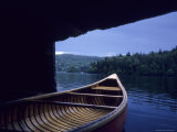 A Canoe Sticks Out of a Boathouse on an Early Morning Day, Quebec, Canada Photographic Print by Taylor S. Kennedy
