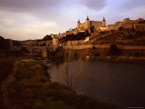 At Sunset a River Runs Past the Ancient City of Toledo, Spain, Toledo, Spain Photographic Print by Taylor S. Kennedy