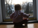 A Baby Looks Out the Front Door, Chevy Chase, Maryland, United States Photographic Print by Stacy Gold