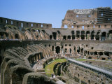 A View Inside Rome's Colosseum Photographic Print by Taylor S. Kennedy