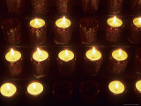 Votive Candles in a Church Symbolize Christian Prayers, Bavaria, Germany Fotografisk tryk af Taylor S. Kennedy