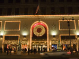 A Store Front Lit up and Decorated for Christmas Time, New York City, New York Photographic Print by Taylor S. Kennedy