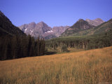 A View of Maroon Bells Mountains Outside of Aspen Colorado, Maroon Bells National Park, Colorado Photographic Print by Taylor S. Kennedy