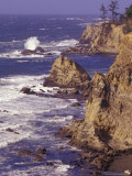 Ragged Coastline near Coos Bay, Oregon, USA Photographic Print by Adam Jones