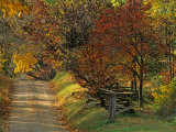 Fall Colors, View Of Country Land, Loudoun County, Virginia, USA Photographic Print by Kenneth Garrett