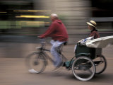 Pedicab in Pioneer Square, Seattle, Washington, USA Photographic Print by John & Lisa Merrill