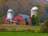 Farm Landscape in Fall Color, Arlington, Vermont, USA Photographic Print by Joe Restuccia III