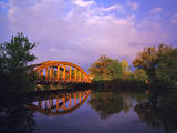 Rainbow Bridge Over Sheyenne River, Valley City, North Dakota, USA Photographic Print by Chuck Haney
