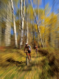 Mountain Bike Race, Methow Valley, Washington State, USA Lámina fotográfica por David Barnes