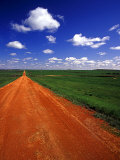 Red Road of Scoria near Fryburg, North Dakota, USA Photographic Print by Chuck Haney