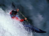Kayaker on the White Salmon River, Gorge Games, Oregon, USA Photographic Print by Lee Kopfler