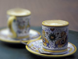 Espresso Drinks in Italian Mugs, Seattle, Washington, USA Photographic Print by John & Lisa Merrill