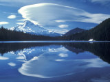 Mt Hood Reflected in Mirror Lake, Oregon Cascades, USA Photographic Print by Janis Miglavs