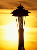 Space Needle at Sunset, Seattle, Washington, USA Photographic Print by Paul Souders