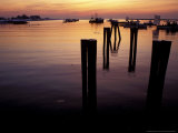 Sunrise on Boats, New Hampshire, USA Photographic Print by Jerry & Marcy Monkman