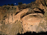 Moonrise over Painted Cave, Pueblo Rock Art, Bandelier National Monument, New Mexico, USA Photographic Print by Scott T. Smith