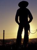 Cowboy Silhouette, Ponderosa Ranch, Seneca, Oregon, USA Photographic Print by Darrell Gulin