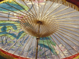 Painted Umbrellas at the Loa Fire Rocket Festival, Seattle, Washington, USA Photographic Print by John & Lisa Merrill