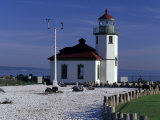 Alki Point Lighthouse on Elliot Bay, Seattle, Washington, USA Photographic Print