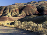 Painted Hills of John Day Fossil Bed National Monument, Oregon, USA Photographic Print by William Sutton